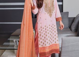 Alkaram 3 Piece Embroidered Chiffon Dresses 2016