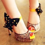 Bowknot High Heel Shoes For Special Parties