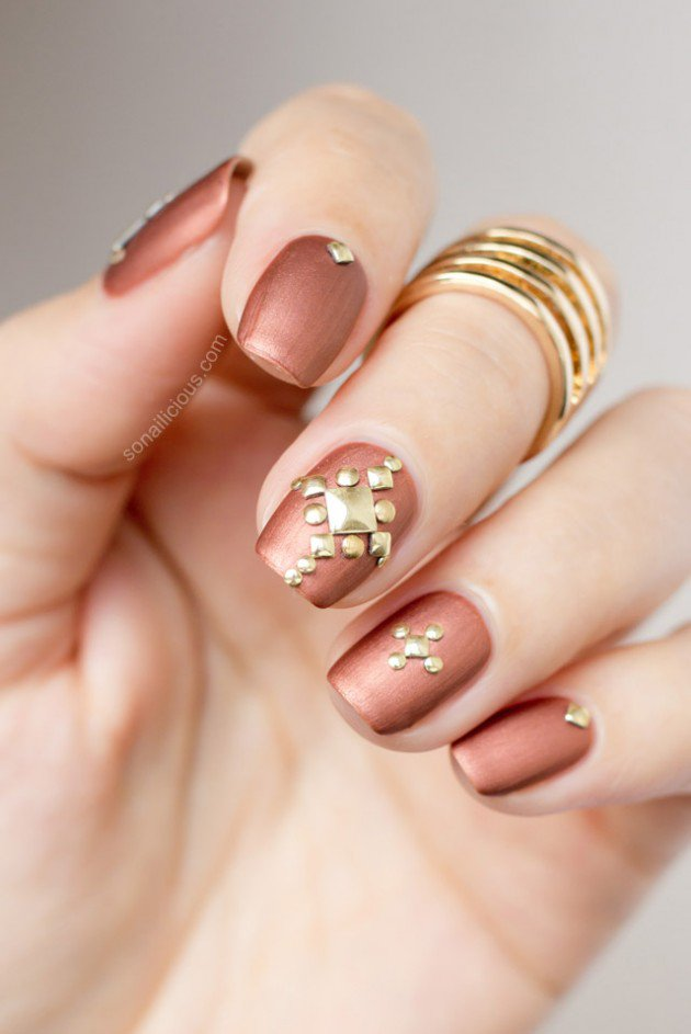 Metallic Nail Designs