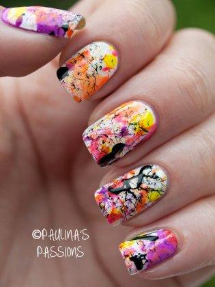 Splatter Nail Designs