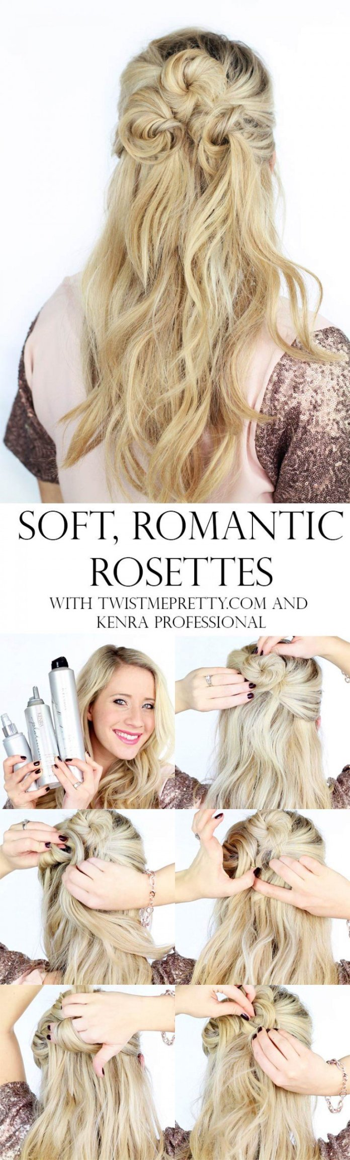 Valentines day hair tutorials