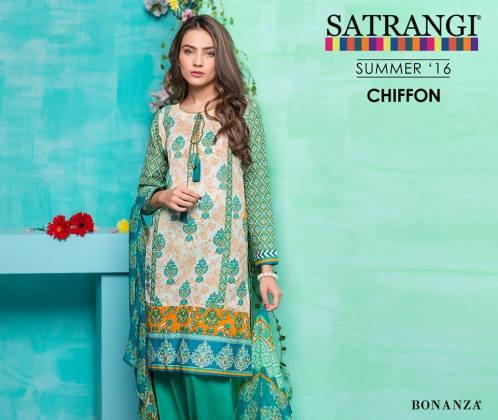 Bonanza Satrangi Chiffon Summer Collection 2016