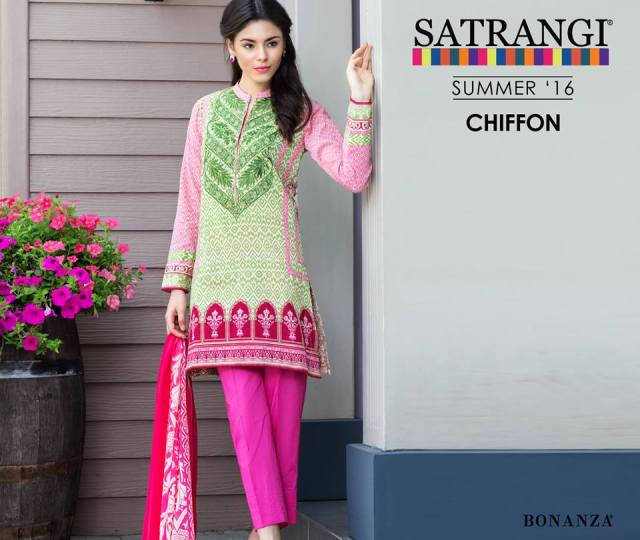 Bonanza Satrangi Chiffon Summer Collection