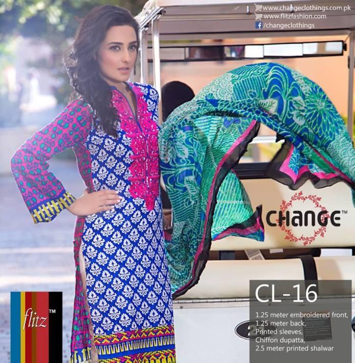 Casual Summer Lawn Shalwar Kameez Change