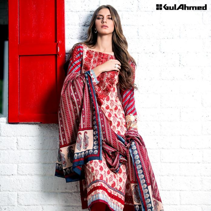 Gul Ahmed Embroidered Three Piece summer collection