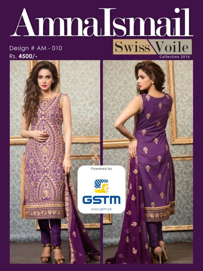 Swiss Voile Summer Dresses Amna Ismail Collection