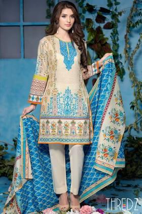 Threadz Unstitched Lawn Dresses Summer Collection 2016