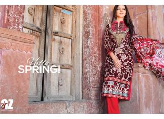 Zanisha Embroidered Collection Al Zohaib Textiles 2016