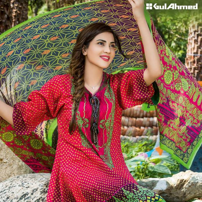Bandhani summer casual lawn dresses