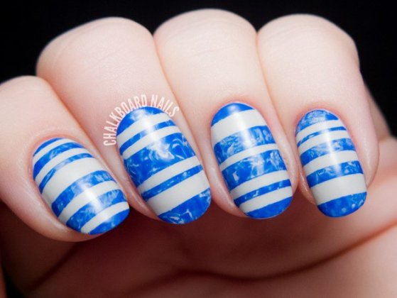 Beautiful Striped Nail Designs For Summer Season