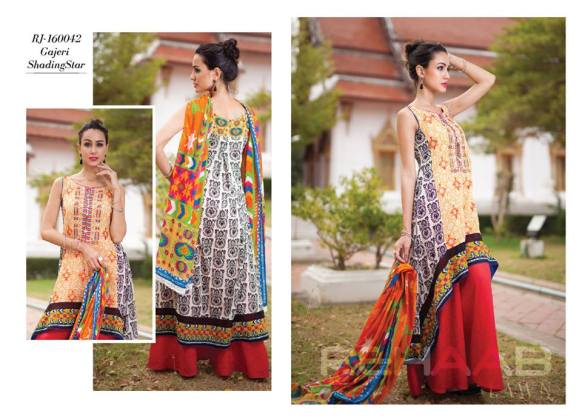 Fancy Rehaab Lawn Modern Dresses By Jaffrani 2016