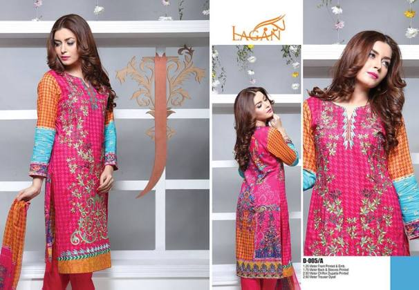 Lagan Embroidered Lawn Shalwar Kameez By Jubilee 2016