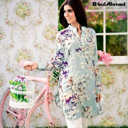 Soya Silk Single Shirt Summer Collection By Gul Ahmed 2016