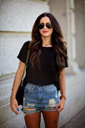Denim Shorts Chic Outfits For Summer Season 2016