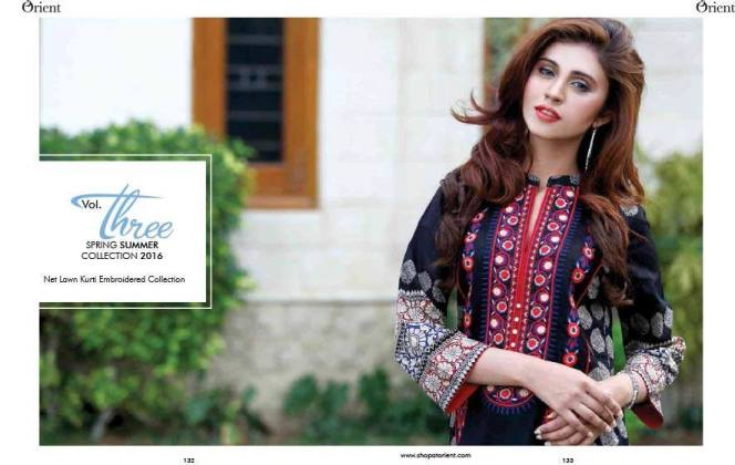 Net Lawn Embroidered Kurti Collection By Orient Textiles 2016