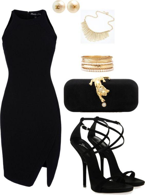 Black dress white collar polyvore home