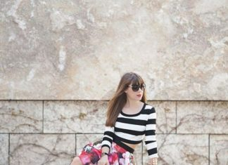 Summer Floral Striped Outfits