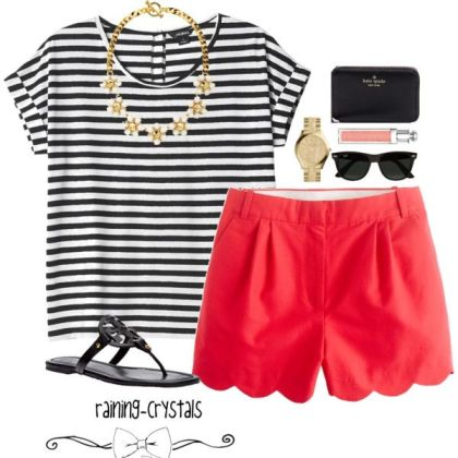 Summer Striped Polyvore Dresses