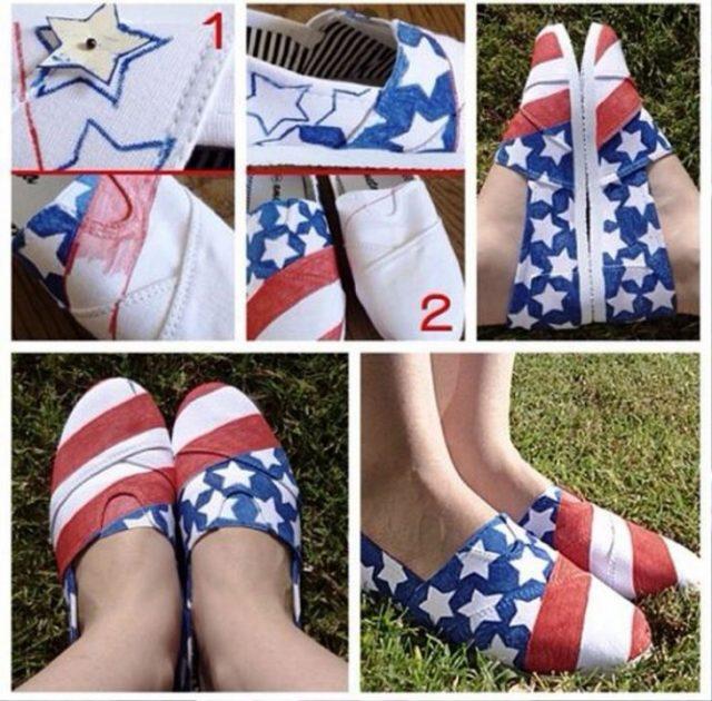 DIY 4th Of July Shoe Ideas