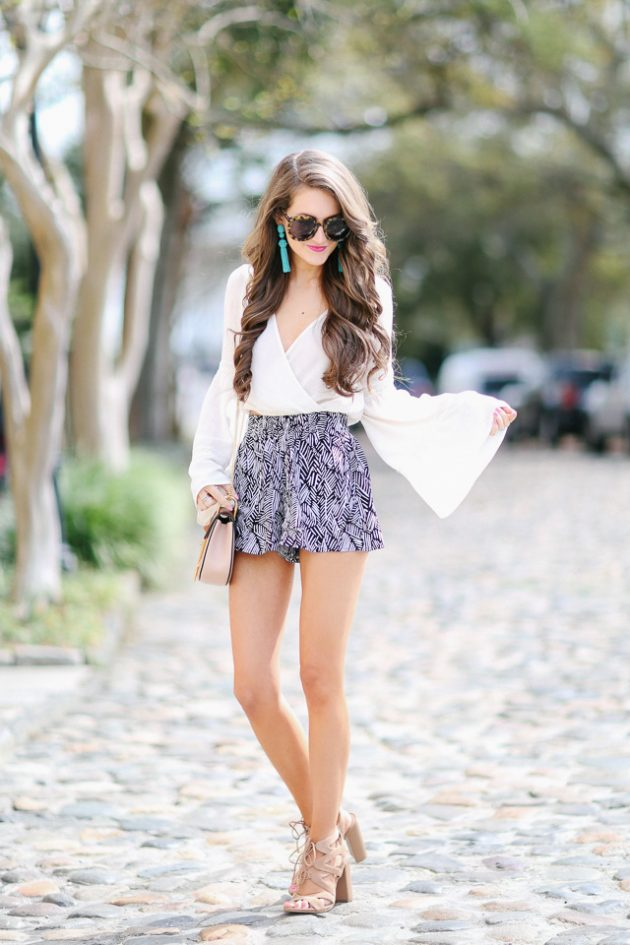 Printed Shorts Summer Casual Clothing Ideas 2016