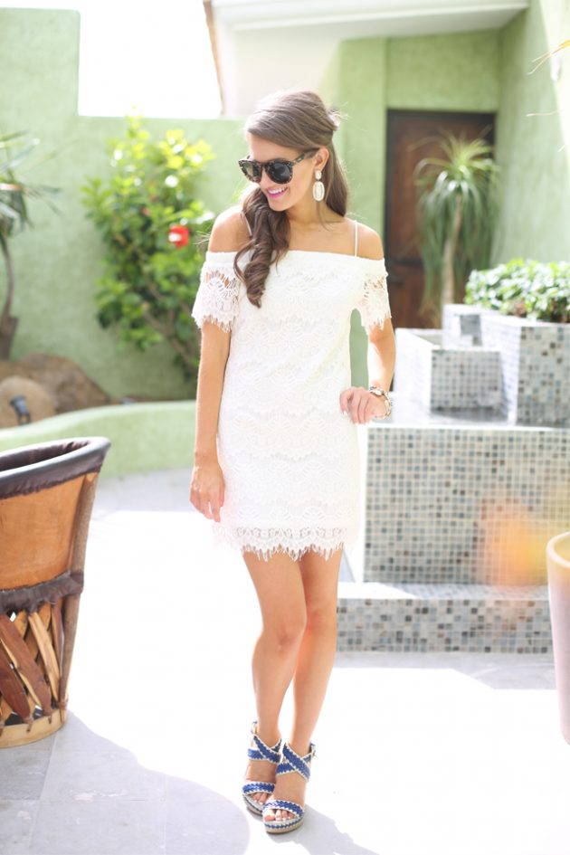 White Lace Summer Dress