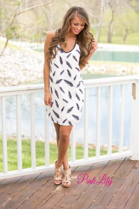 Feather Printed Dresses