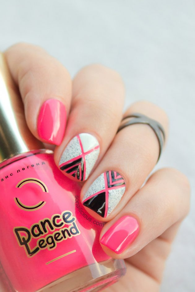 Pink Nail Designs For Summer End and Autumn Season 2