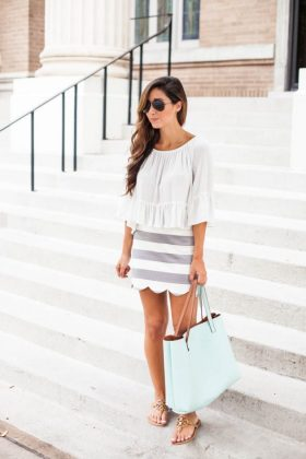 Scalloped Edges Clothing Trend During Summer End Season