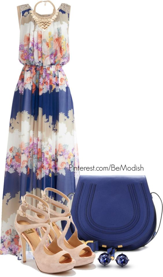 Summer Maxi Polyvore Dress Combos For Your Styling 4