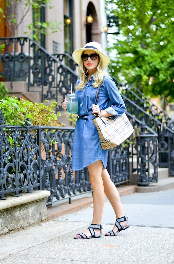 Autumn Denim Dresses To Copy This Season 2016-17 34