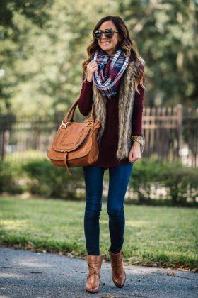 Fur Vests Fall Season Dressing Ideas For Women 2016-17