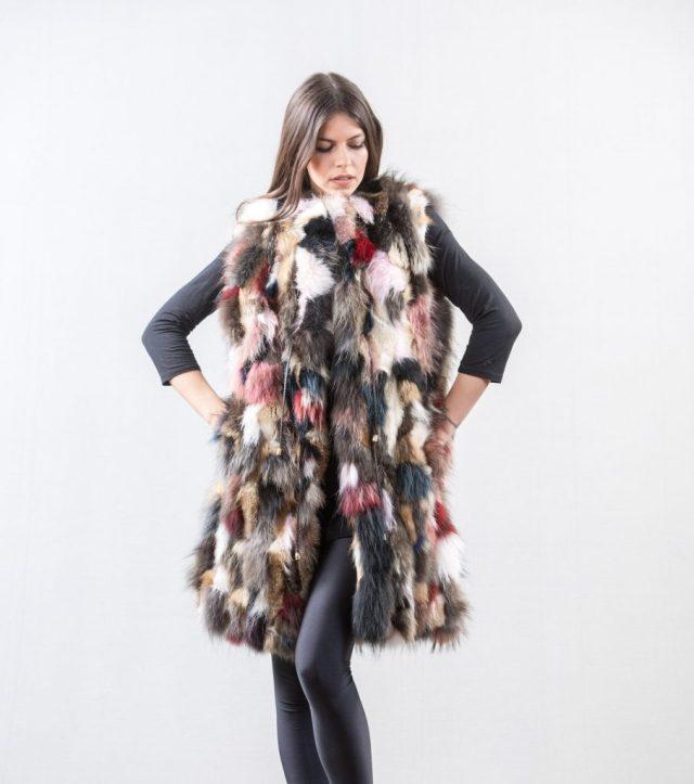 Cropped fur coat