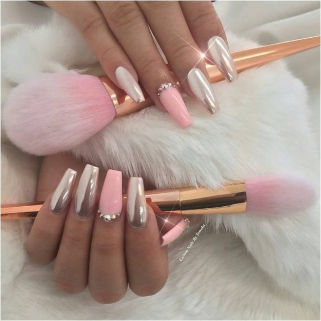 15 pink nail designs that will make you glamorous stylevilas 15 pink nail designs that will make you glamorous prinsesfo Image collections