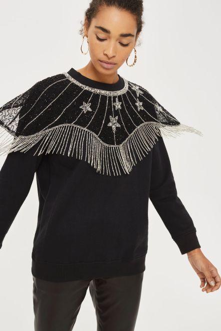 Topshop Star Cape Sweatshirt