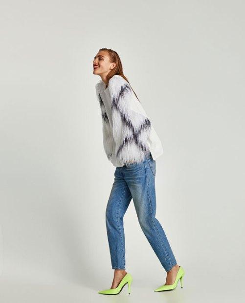 Zara Sweatshirt with contrasting sleeves