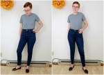 Everlane Review: High & Mid-Rise Authentic Stretch Denim | Side-By-Side