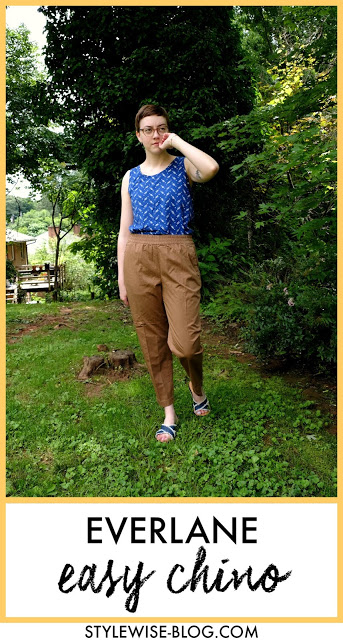 Everlane easy chino in ochre review with pictures stylewise-blog.com