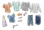 Illustrated | What I Packed for 10 Days in Florida