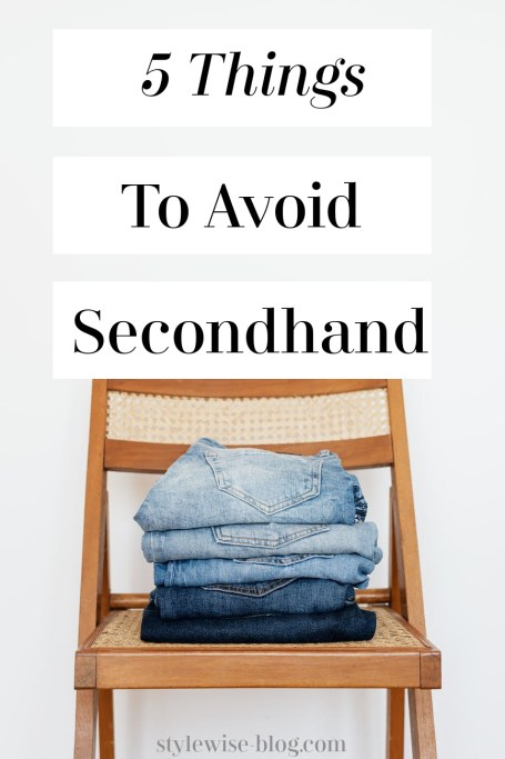 5 things to avoid secondhand thrift shop