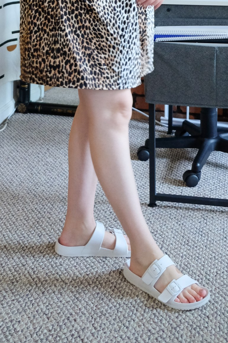 white sandals from Target