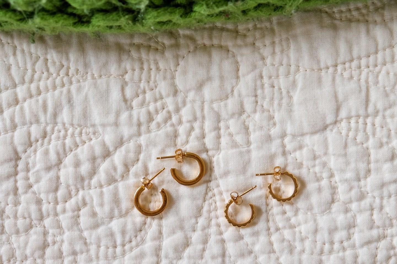 unlocked hoops ethical jewelry