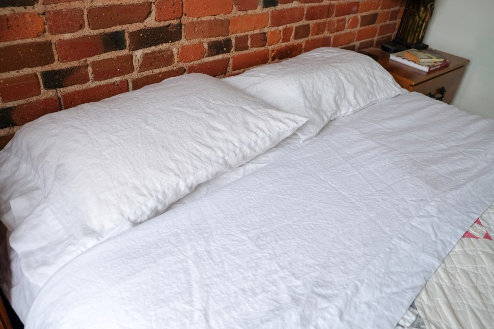 Are Linen Sheets Worth It - white linen sheets from Quince