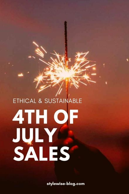 Sustainable 4th of July Sales Pinterest pin