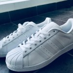 Adidas Superstars all white sneaker is one of the less popular but absolutely gorgeous versions of the Superstars