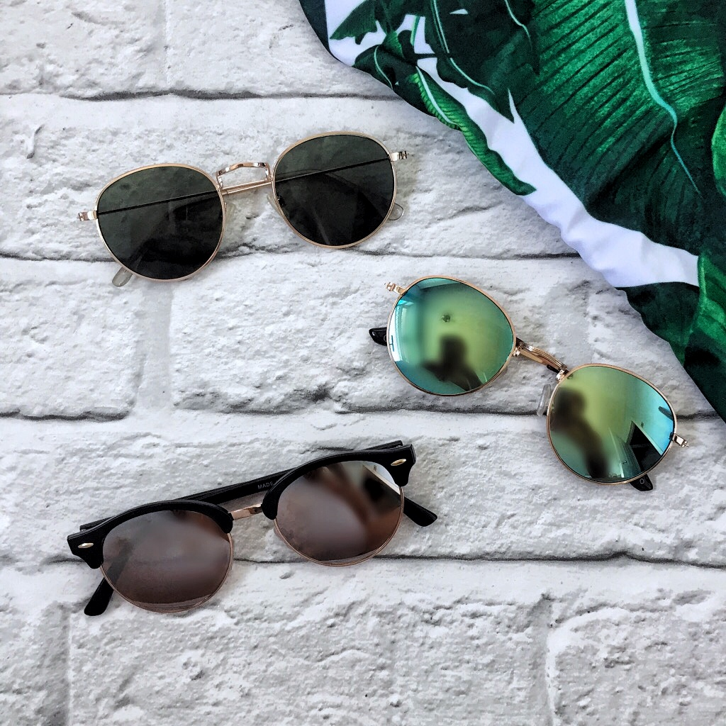 round sunglasses, mirror lens, clubmaster, rayban dupes