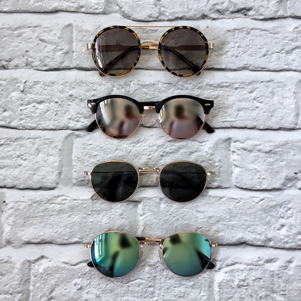 round aviator, clubmaster, round sunglasses, mirror lens, rayban dupes