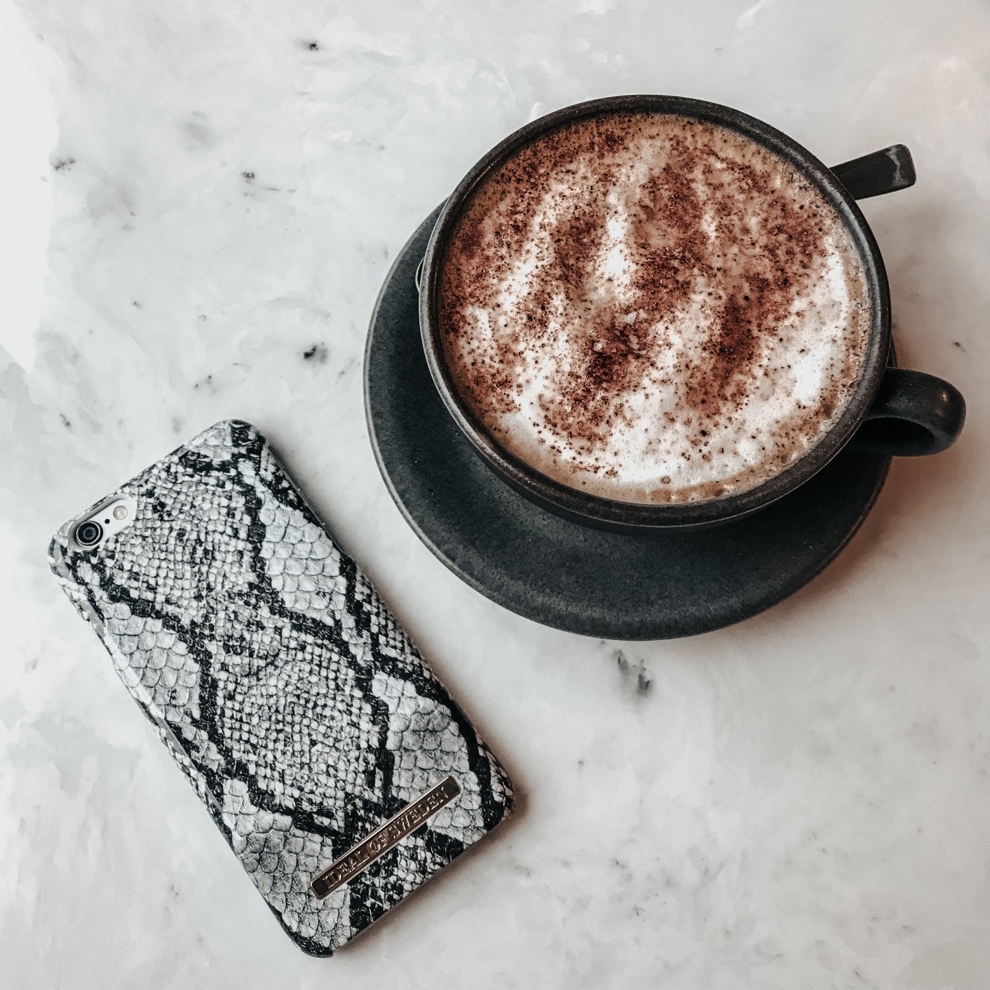 ideal of sweden snake print phone case, iPhone case, coffee