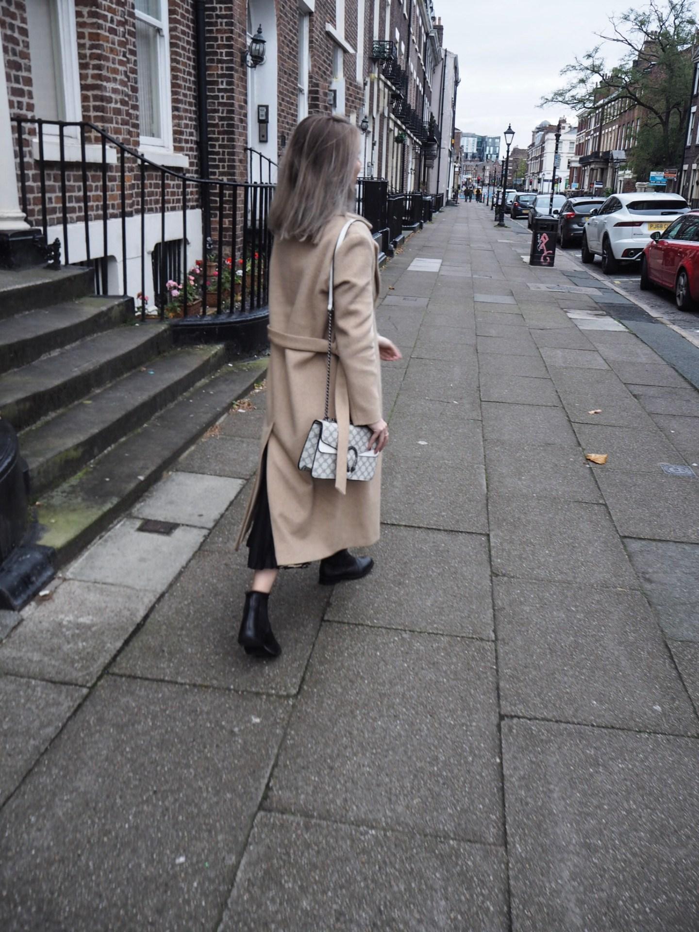 camel coat, & other stories alpaca coat, fashion blogger, midi skirt