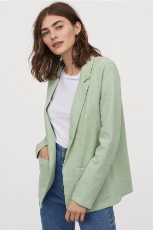 Light Green Jersey Jacket