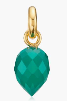 Green Onyx Fiji Bud Gemstone Pendant Charm